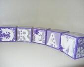 Purple Dream Wooden Blocks