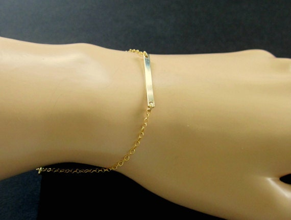 Minimalist Gold Filled Bar Bracelet