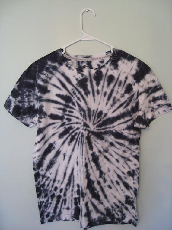 Tie Dye Black & White Adult Medium Short Sleeve T-Shirt