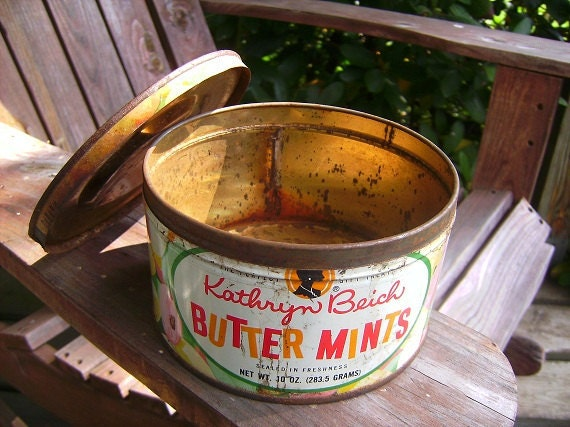 Reserved for Gretchen ...Vintage Candy Tin -  Butter Mints Kathryn Beich