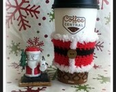 Santa Jacket Coffee Sleeve Coffee Cozy