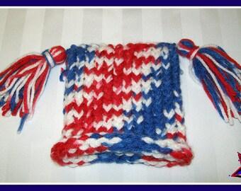 Crochet American Pride Hat 4th of July Hat SALE
