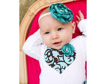 Flower Headband with pearl center, baby, girls, teen, adult, MULTIPLE COLORS
