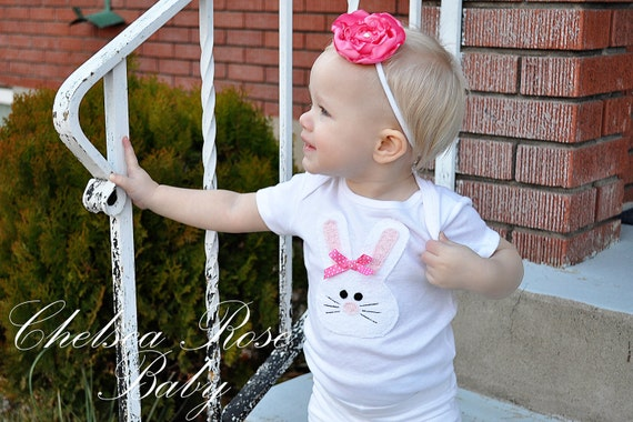 Baby Girl Easter Bunny Onesie, Toddler Girls Bunny Shirt with Matching Leggings, Easter personalized baby girl clothes