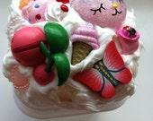 mini trinket diy decoden storage box - kawaii pink  featuring Cherubi from pokemon