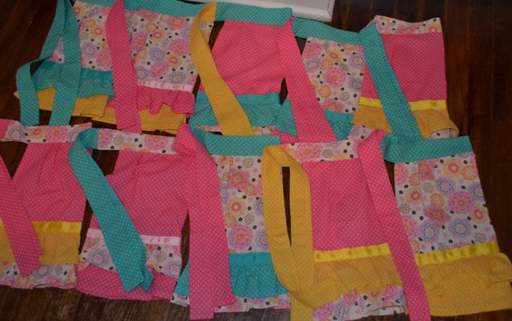 RESERVED FOR MELISSA Birthday Party Aprons, Sample, Can Do Most Colors and Themes.