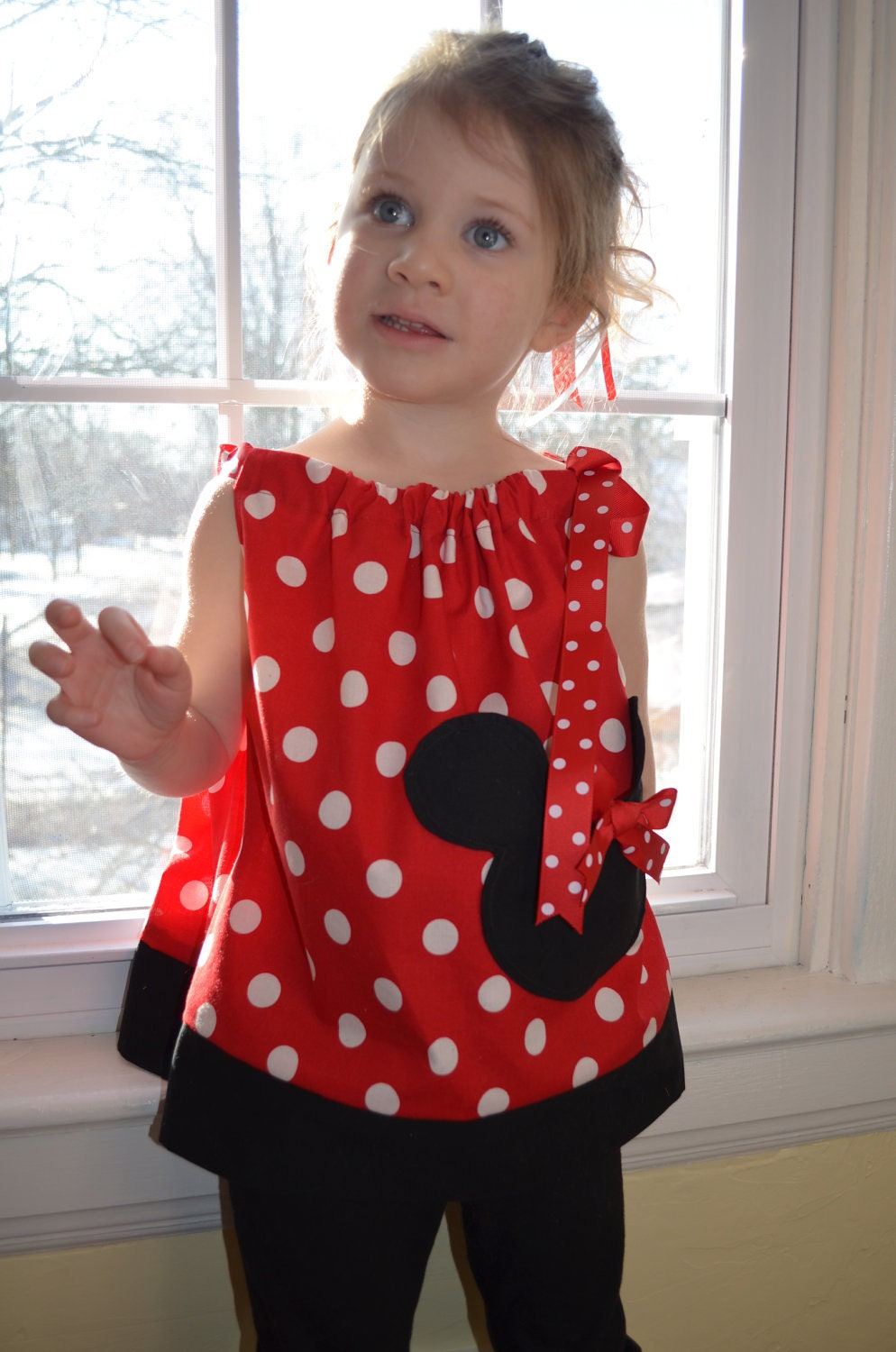 Minnie Mouse Dress Little Girl Pillowcase Dress Or Top With