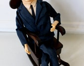 John F. Kennedy Jr. Doll with Musical rocking chair