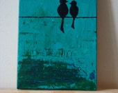 """Two - 5"""" X 7"""" acrylic painting"""