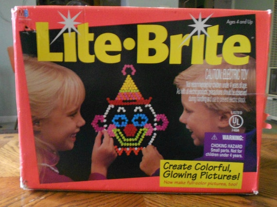 Electronic Toys 1980s Lite Brite 80s Toy Electronic