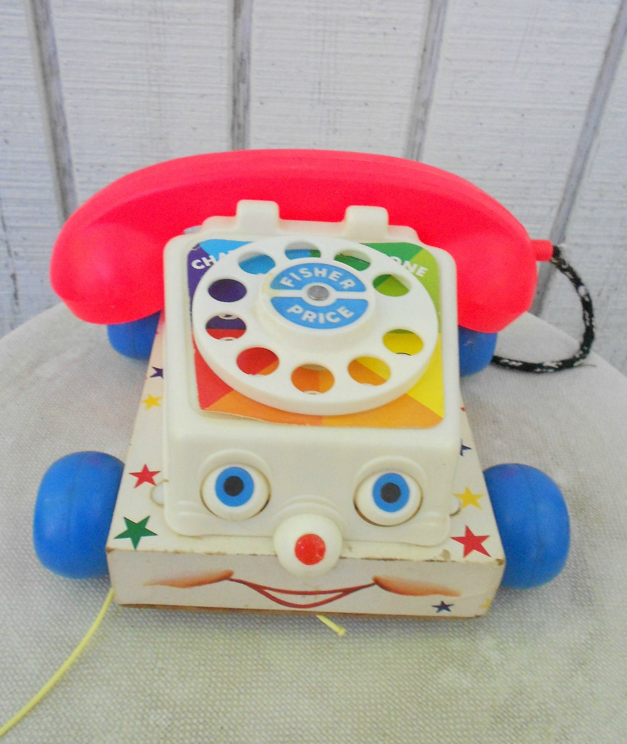 60s Fisher Price Telephone Chat Vintage Toy Chatter Phone 747
