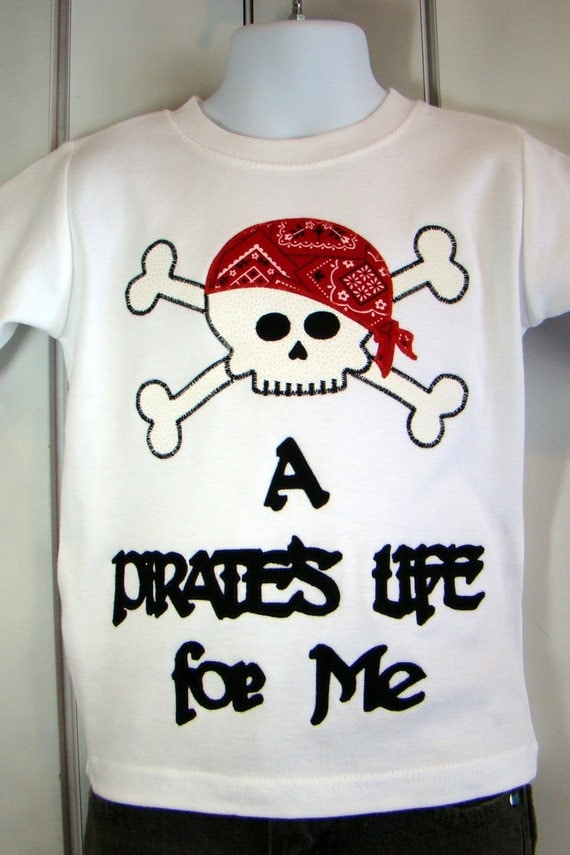 Custom Pirate Disney Shirt, Available in Long or Short Sleeves.