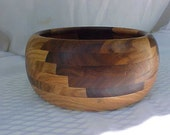 BOWL Wooden turned Segmented walnut and red oak wood ShopDrennan