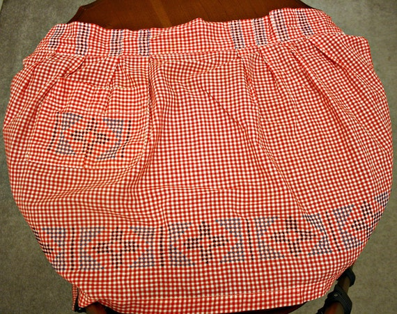 Sweet Country Gingham Apron - Large
