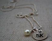 5K Motivational Running Charm Necklace