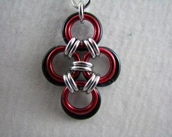 Anarchy Japanese Cross Earrings
