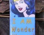 I AM Wonder Woman Domino Pendant