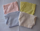Set of 4 Cloth Doll Diapers for Baby and Toddler Dolls