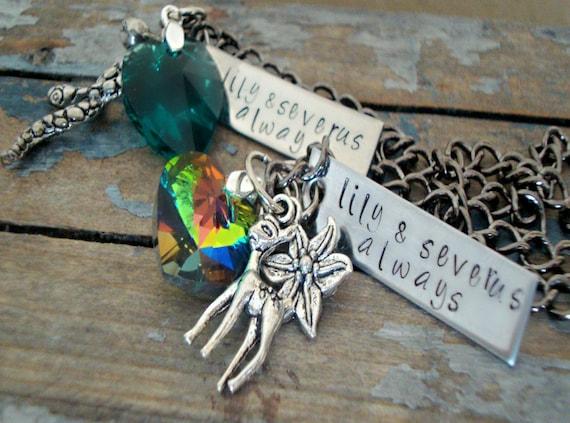Lily Evans Potter & Severus Snape Always Necklaces