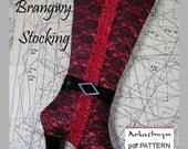 Christmas Stocking Pattern PDF Elegant High Heel Boot...Brangwy