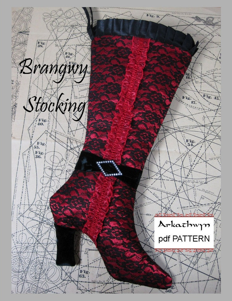 Christmas Stocking Pattern PDF Elegant High Heel by arkathwyn