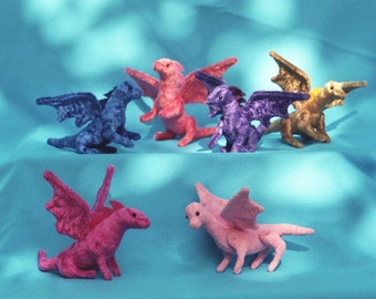 Fairy dragons -miniature, soft sculpture dragons, custom made miniature dragons