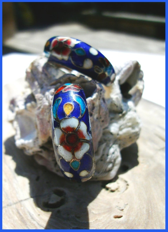 Vintage 1970's Chinese Cloisonne Earrings