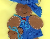 Personalized gingerbread girl ornament & gingerbread baby ornament