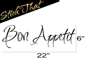 Bon Appetit wall decal for Kitchen vinyl wall decal sticker