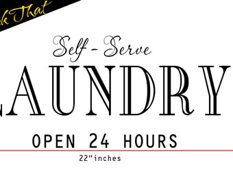 Self Serve Laundry Room vinyl decal wall art decor removable