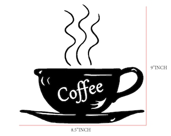 Coffee Cup Decal kitchen Wall decal  Art Vinyl Decal sticker