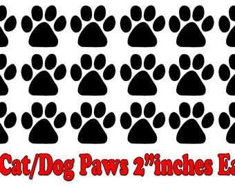 18 Dog/Cat Paw Print Decals........Wall Art Vinyl Decal sticker Removable