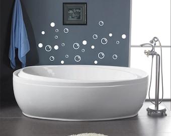 38 Soap Bubbles Bathroom wall decals - vinyl decal -wall art - home decor  - removable - bathroom decal - bubble decals - soap bubbles -
