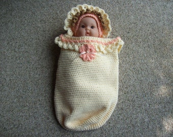 Newborn, Doll, Baby, Cocoon/Sleep Sack, Hat, Angel,Photo Prop,Gift,Girls,Babies