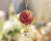 Pink Balloon Necklace - N0028 // Family Gift, Birthday Gift, Everyday Jewelry - queenspark