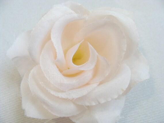 White Rose Flower Hair Clip or Headband- For Baby Girl, Toddler, Girl, Teenager or Women- Bridal