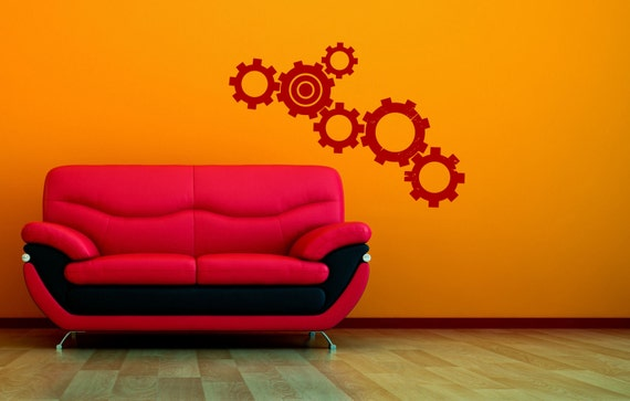 Wall Decal - Turn Your Gears  - Sticker