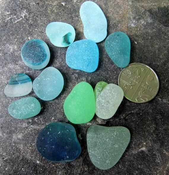 English sea glass, cool, turquoise, uv, teal, aqua, multis