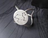 Leo Zodiac Constellation Ring Sterling Silver