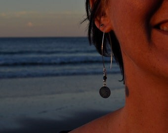 Cancer Constellation Earrings Titanium and Silver Chandelier Hooks