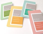 Business card, 300 cards by offset printing, pastel colors - hellocard