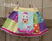 Girls Patchwork Cupcake Skirt  --- all sizes 12mos to 12 years