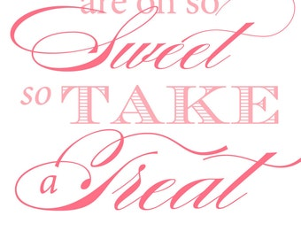 Baby Shower Candy Bar / Dessert Table Sign - YOU PRINT