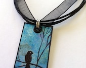 Re-Carded Blackbird Necklace