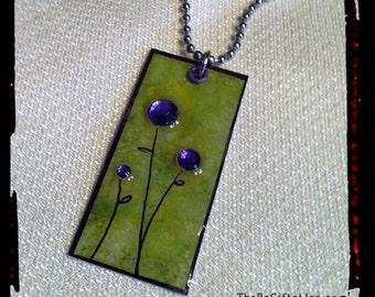 Re-Carded Purple Blooms Necklace