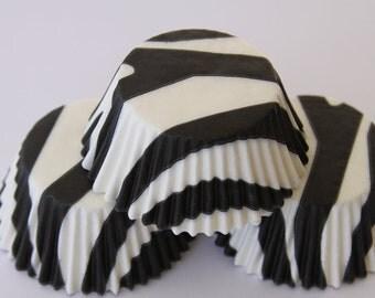 50 White and Black Zebra Striped Liners