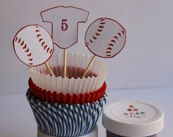 Baseball Cupcake Kit
