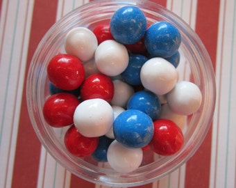 Red White & Blue Airplane Candy Coated Cupcake Topper Sixlets