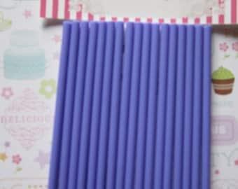 24 Purple Marshmallow, Chocolate & Cake Pop Sticks