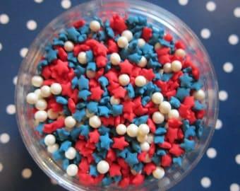 Blue Red White Sprinkles ~ Patriotic Sprinkles ~ July 4th Sprinkles